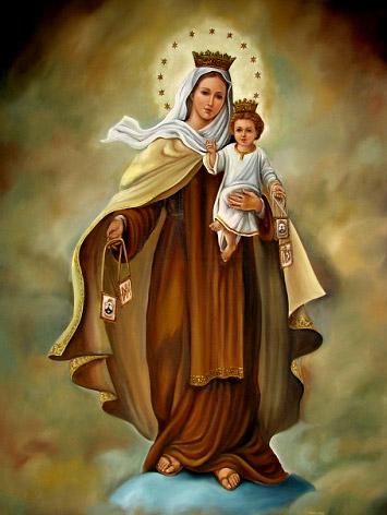 Escapulario de la Virgen del Carmen