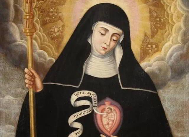 Coronilla de santa Gertrudis por las almas del Purgatorio